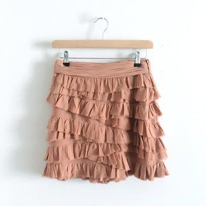 Club Monaco silk ruffle mini skirt - size 2